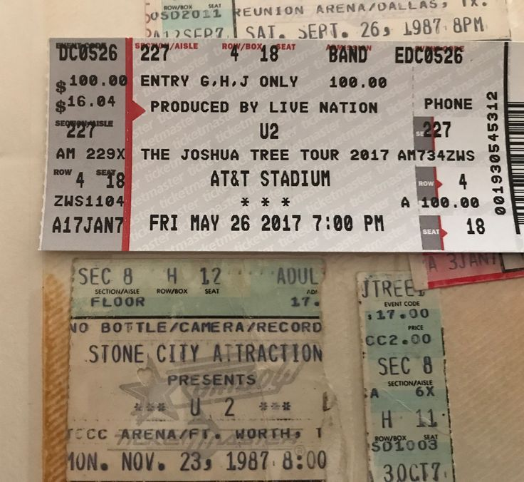 U2: The Joshua Tree 1987 & 2017