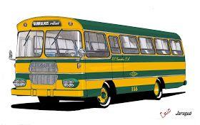 Will.Bus: Caio Jaraguá / Mercedes-Benz LPO 344 - (SP) Empresa de Ônibus Guarulhos S.A. (Década de 60)