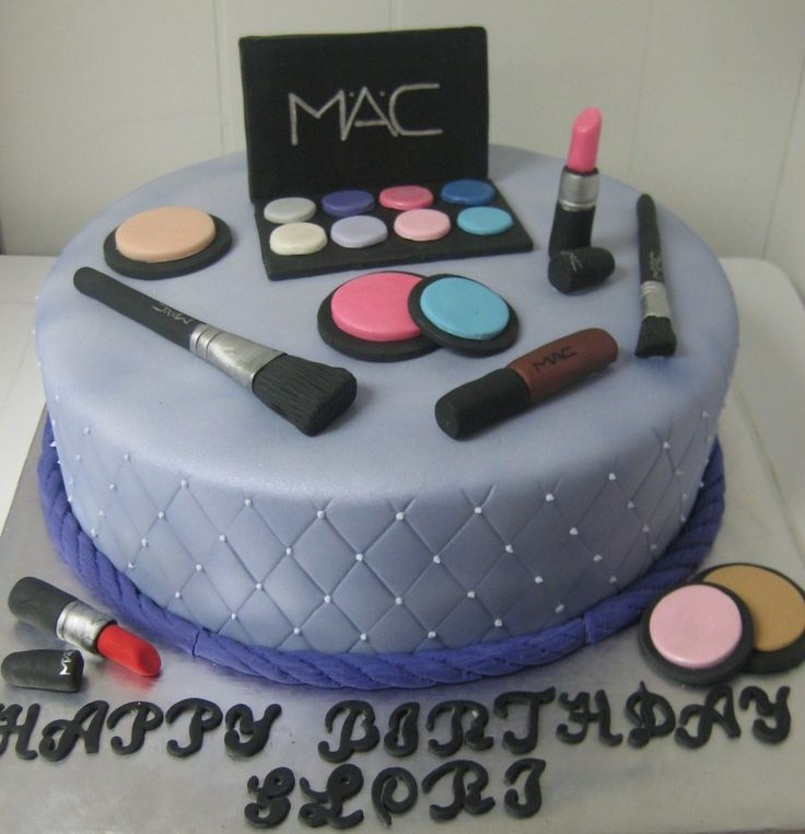 Makeup Birthday Cake Ideas : 17 Best ideas about Makeup Birthday Cakes on Pinterest ...