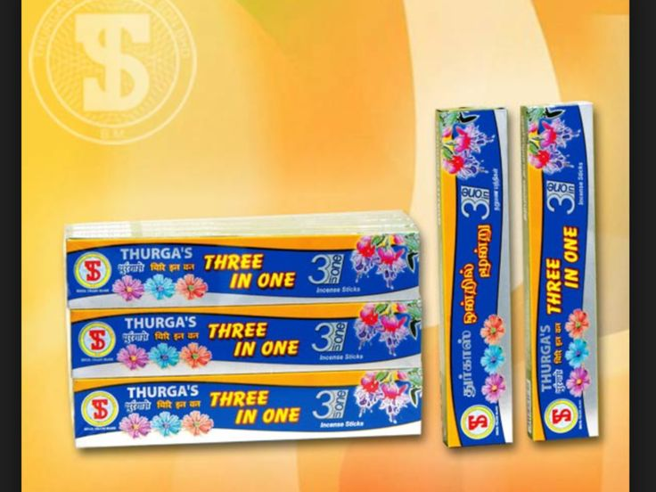 THURGA's Premium THREE IN ONE Incense $10 per packet 24 sticks available @ Qincense.com.au