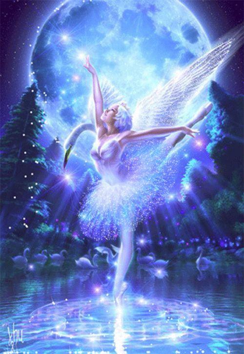 красивые Анимашки, анимационные картинки Ангелы, феи для личных дневников и в гостевые