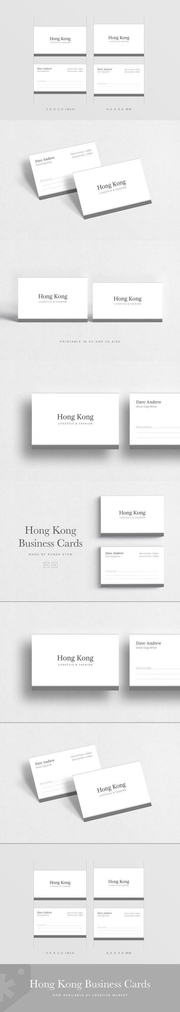 Hong Kong Business Card Elegant Business Cards Cards Indesign Templates