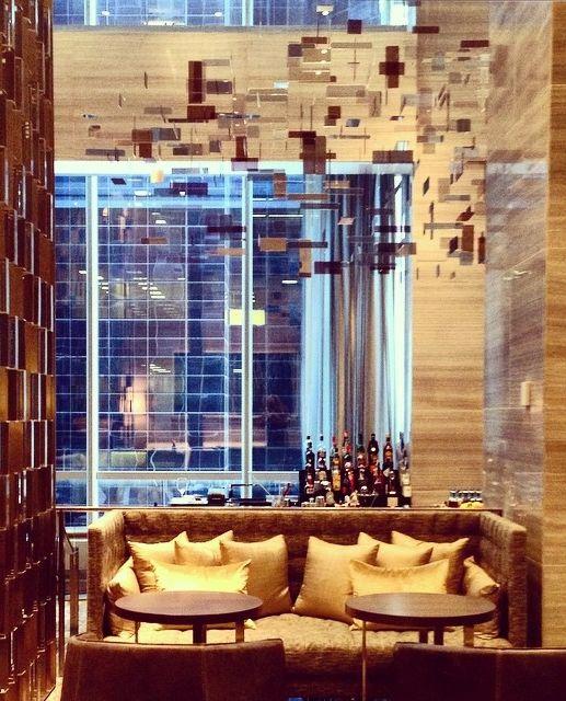 The beautiful lounge at @ParkHyattNY. Photo courtesy of Walter Fairfax.