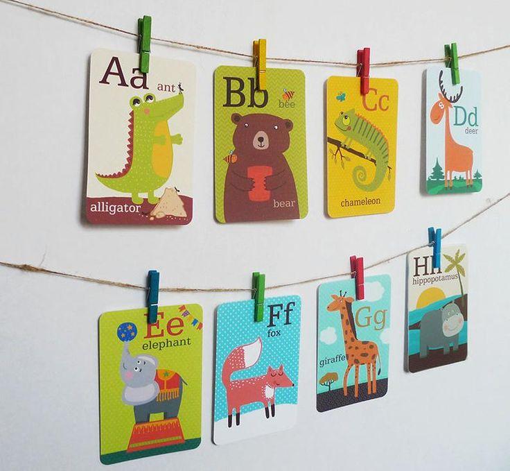 Animal alphabet card set alphabet flash cards abc