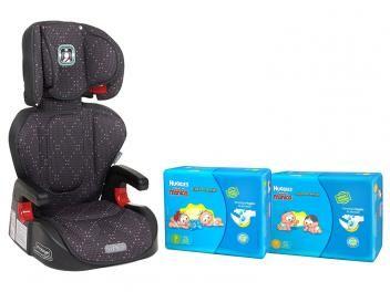 Cadeira para Auto Reclinável Burigotto Protege p/ - Crianças de 15 até 36Kg + 1 Fraldas P + 1 Fralda M