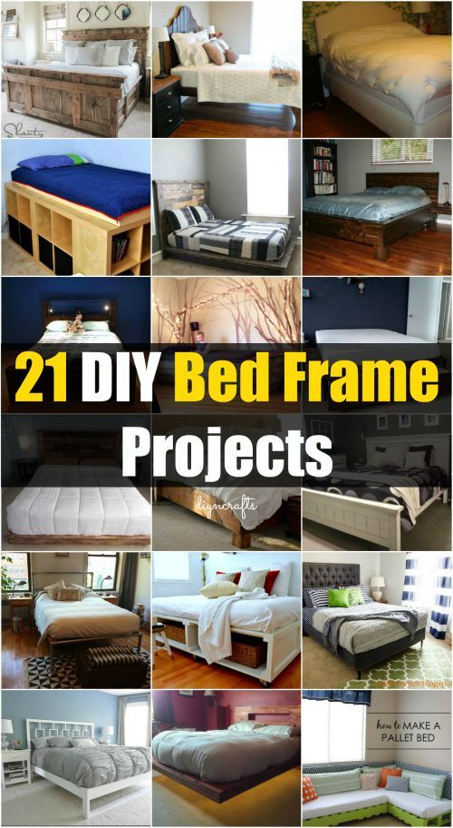 21 DIY Bed Frame Projects – Sleep in Style and Comfort Brilliantly decorative projects!