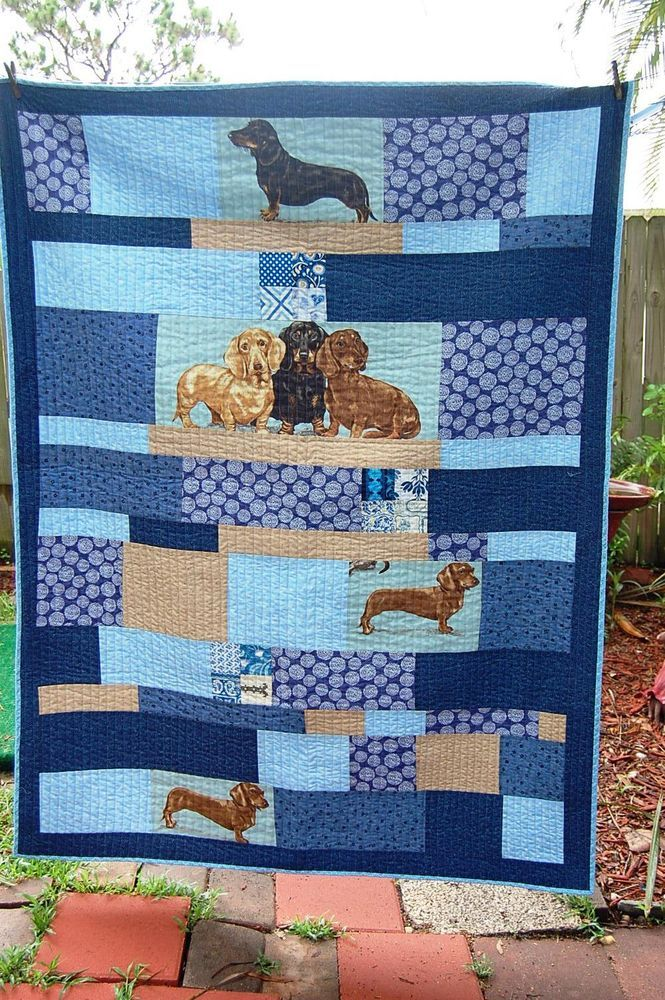 106 Best Dachshund Quilts Images On Pinterest Dog Quilts