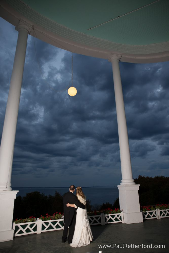 Grand Hotel West Porch Night Image On Mackinac Island Michigan With Photographer Paul Retherford Grandhotel