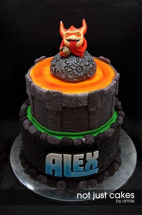 Skylanders Trigger Happy cake