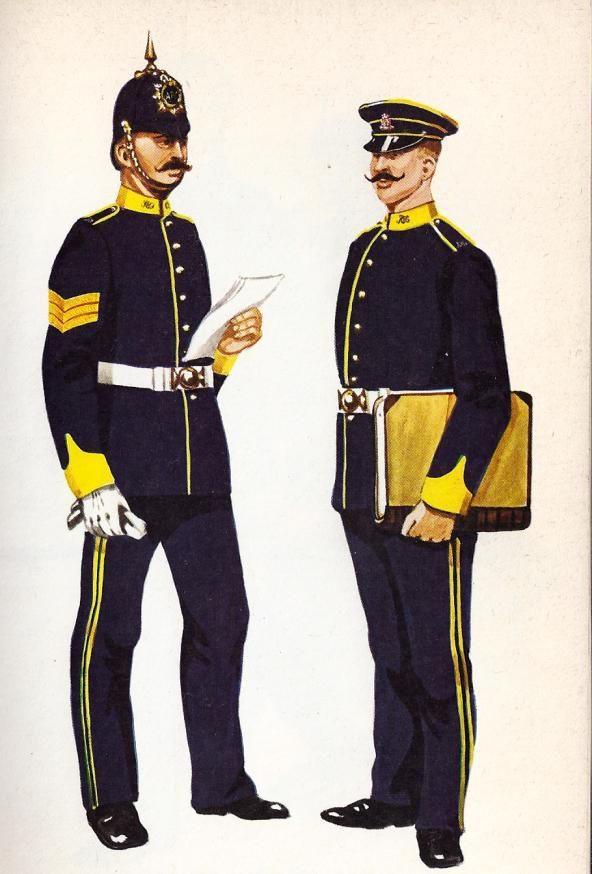 British; Royal Army Pay Corps, Sergeant & Private 1910