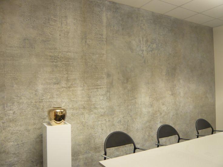 Ehemals bertapezierte und mehrfach gestrichene betonw nde for Boden eingangsbereich