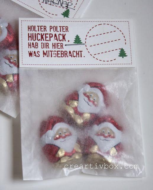 Aldi Weihnachtsmänner süß verpackt zum Verschenken!