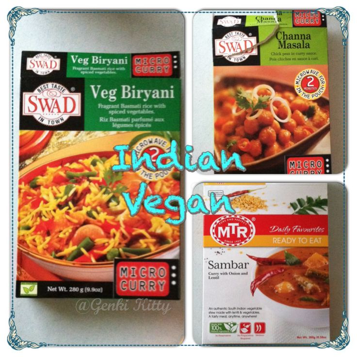 Packaged Indian Dinner Options Vegan