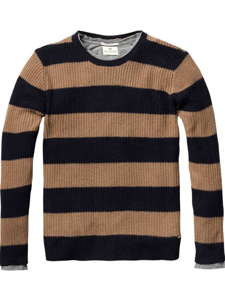 Angora crew neck pull with inner tee by Scotch & Soda