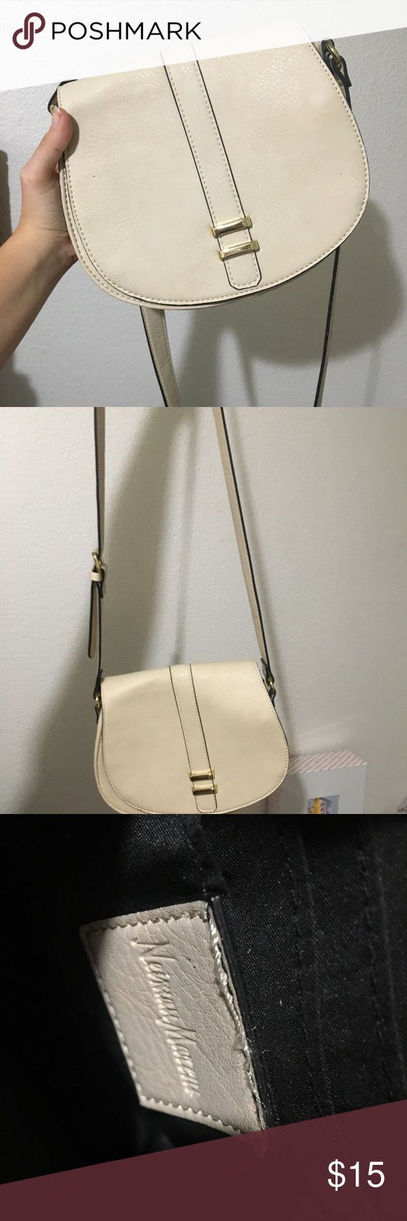 Vintage Neman Marcus purse Tan side bag vintage flaw shown on the last picture Bags Crossbody Bags