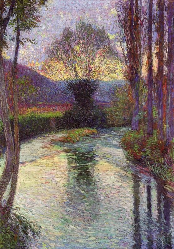 Henri-Jean Guillaume Martin (1860-1943)    Reflected Willow on the Green 1915
