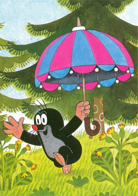 'The Mole and the Umbrella' by Zdeněk Miler