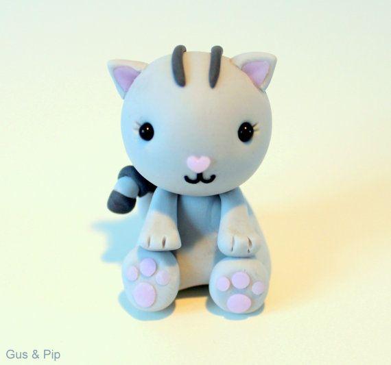 Cute little Kitty Ornament/ Sculpture/ Cake Topper
