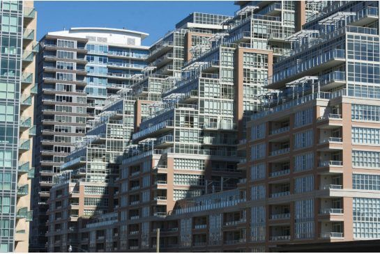 Demand for new condos like these in Toronto's Liberty Village neighbourhood remains strong, a new market survey released on Wednesday from condo research firm Urbanation says.
