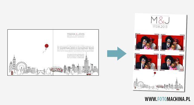 W cenie wynajmu jest całkowicie spersonalizowany projekt wydruku np. opierający się na grafice zaproszenia.
