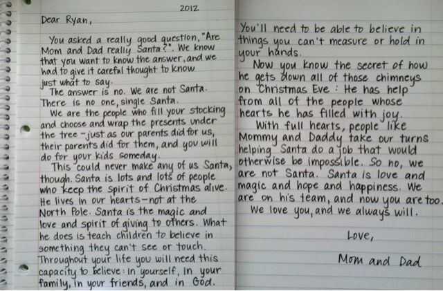 Hands Down the BEST explanation on who and what Santa is... Saving this for when it's time to tell Andrew.