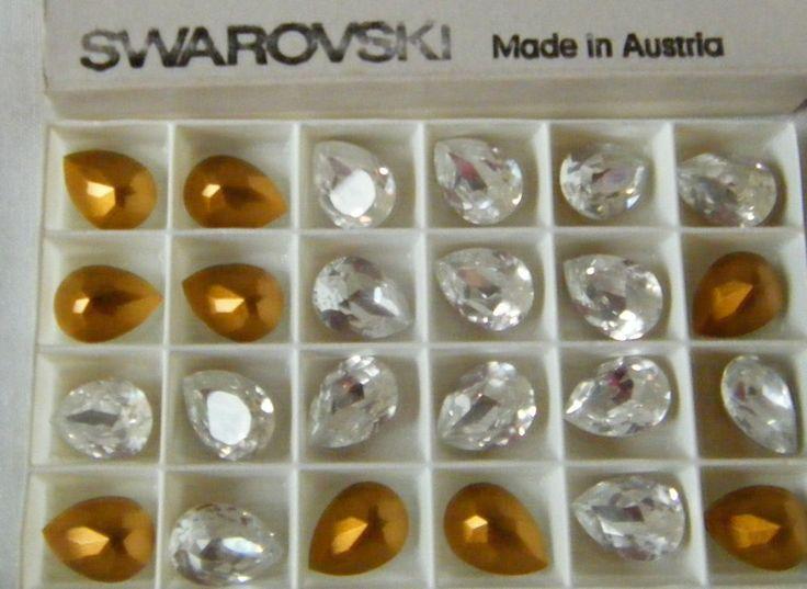 4 - art. 4320 18 x 13 mm. crystal swarovski