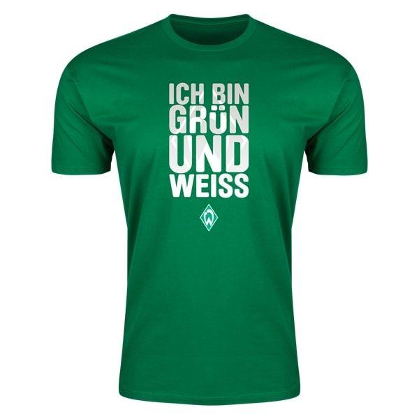 Werder Bremen I Am Green And White Mens Fashion T-Shirt (Green)