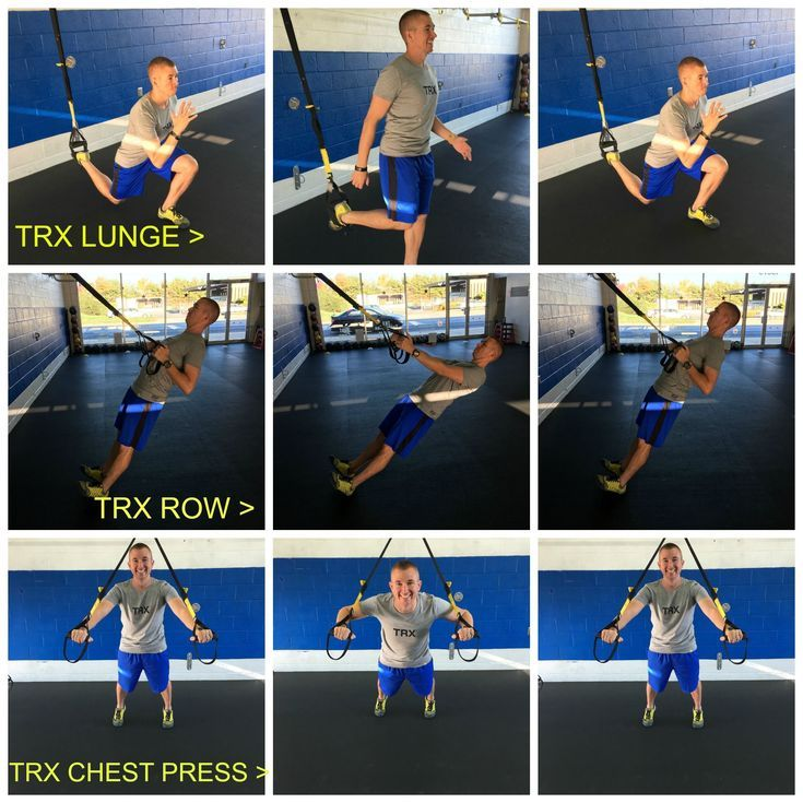 Train like a NAVY SEAL: Try This Quick, Full-Body TRX Workout: TRX Row, TRX Chest Press and TRX Lunge