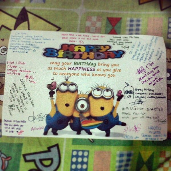 #birthday #card #minions #wishes #prays