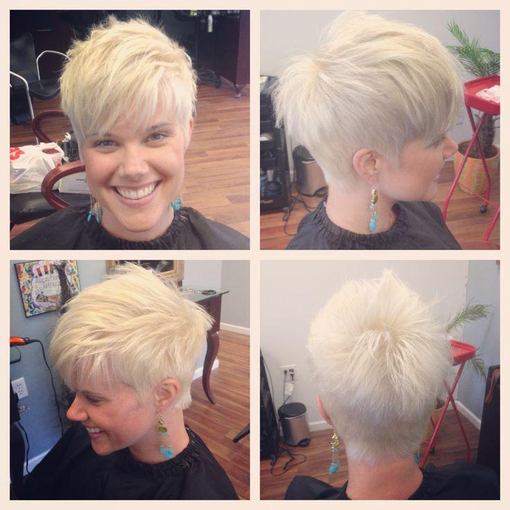 White blonde pixie