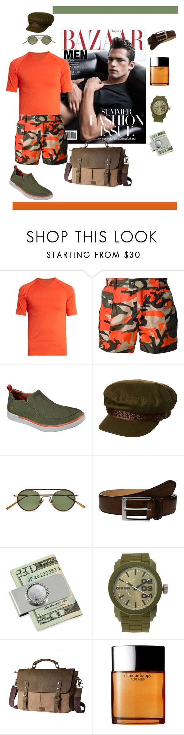 """Take My Temperature"" by scope-stilettos ❤ liked on Polyvore featuring Falke, Dsquared2, Skechers, Brixton, Acne Studios, To Boot New York, American Coin Treasures, Diesel, Clinique and men's fashion"