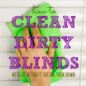 How to clean blinds from HousewifeHowTos.com