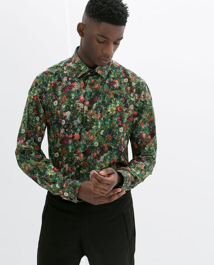 Zara man floral print shirt mens fashion pinterest for Flower print mens shirt