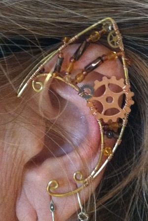 Steampunk Fairy Elf Ears in Brass and Copper with by StarlitSkies, $48.00