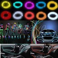 1M/2M/3M/5M Flexible Neon Light Glow EL Wire Rope Tube Car Dance Party Bar Deco