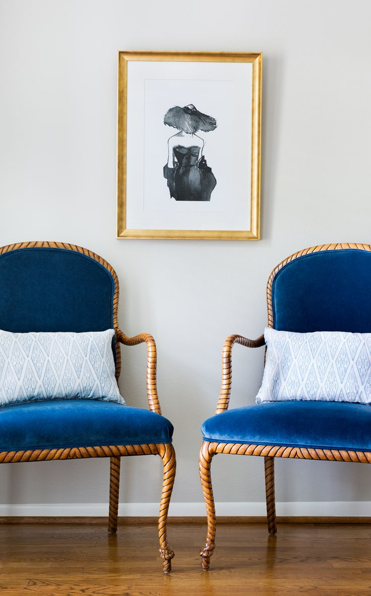 Colourful accent chairs - Jennifer Barron Interiors Vignette