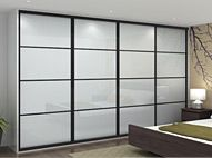 Classic sliding wardrobe doors - Galaxy. 32mm steel framework available in a wide range of colours. Available in single panel, split panel or oriental bars. A cost effective solution to your storage needs. 10 year Spaceslide warranty