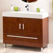 Meuble-lavabo Sutton, noyer brillant