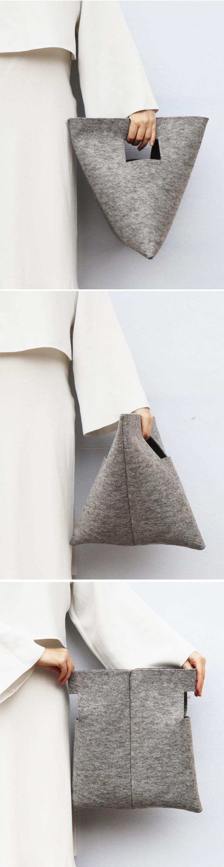 DIY :: M Bag | by IF irinaflorea | minimalist | felt ♥ Diese und weitere Tasch… – Linda loves… DIY & basteln & selber machen