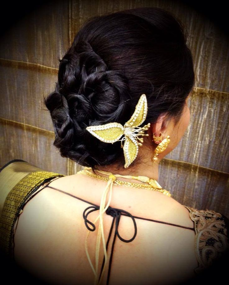 South Indian Bridal Hairstyles For Wedding Reception  ‪#‎SouthIndian‬ ‪#‎BridalHairstyle