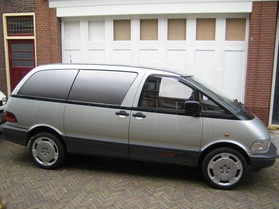 1993 grey Toyota Previa Van.