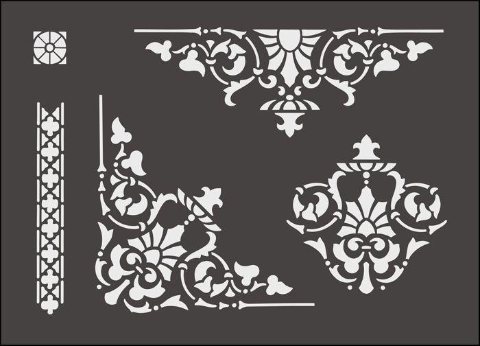 77 besten schablonen bilder auf pinterest fliesen patronen und weihnachtsbasteln. Black Bedroom Furniture Sets. Home Design Ideas