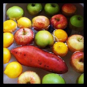 Wordless Wednesday: Vinegar Vegetable Wash & Blog Hop
