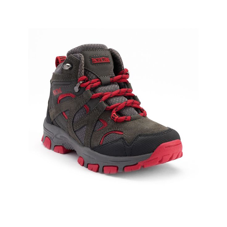Pacific Trail Diller Light Boys' Hiking Boots, Dark Grey, Durable