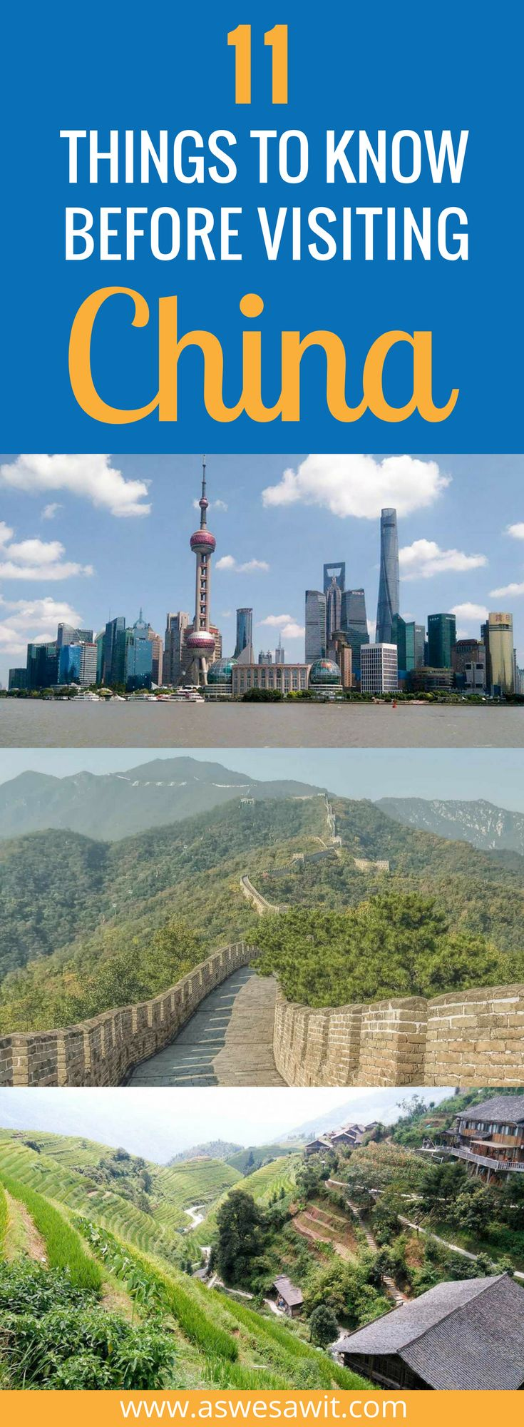 Are you travelling to China soon? One of the world's most complex countries, many first-time visitors to China don't know what to expect before travelling there. In some ways, China completely meets travellers expectations, and in others completely surprises them! Click through to read the top things that you should know before travelling to China. | As We Saw It #china #traveltips