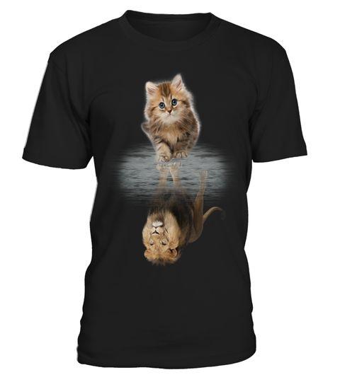 T shirt  CAT & LION - BE CONFIDENT!  fashion trend 2018 #tshirt, #tshirtfashion, #fashion