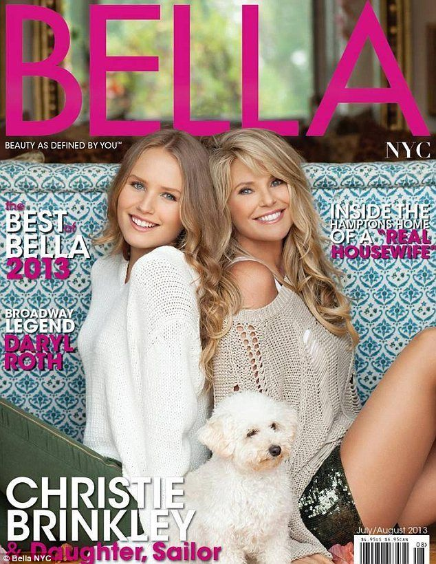 Christie brinkley and her daughter, Sailor cover