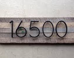 Image result for cottage house number signs