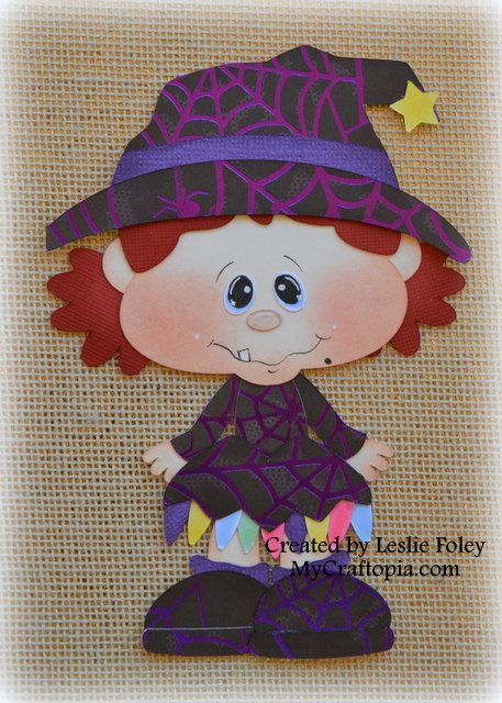 Witch Premade Halloween Scrapbooking Embellishment by MyCraftopia, $5.95