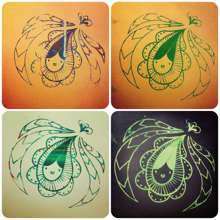 Silkscreen print by me:-) it's original.